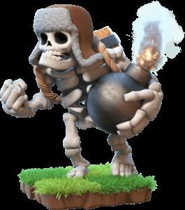 Esqueleto Gigante do Clash Royale - Wiki da Carta Giant Skeleton