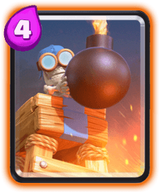 Carta da Torre de Bombas do Clash Royale