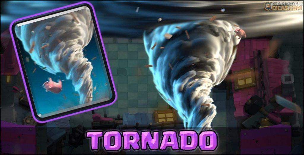 Carta do Tornado em Clash Royale