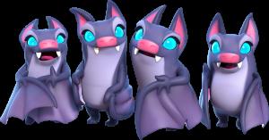 Arte de Ilustração dos Morcegos no Clash Royale