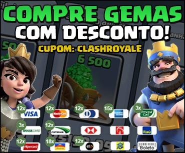 Onde comprar Gemas baratas pra Clash Royale