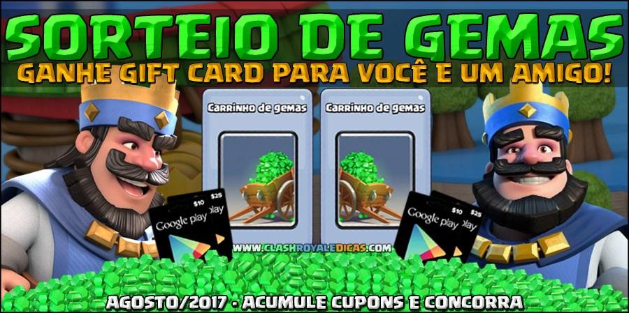 Sorteio de Gemas 2v2 (Agosto/2017)