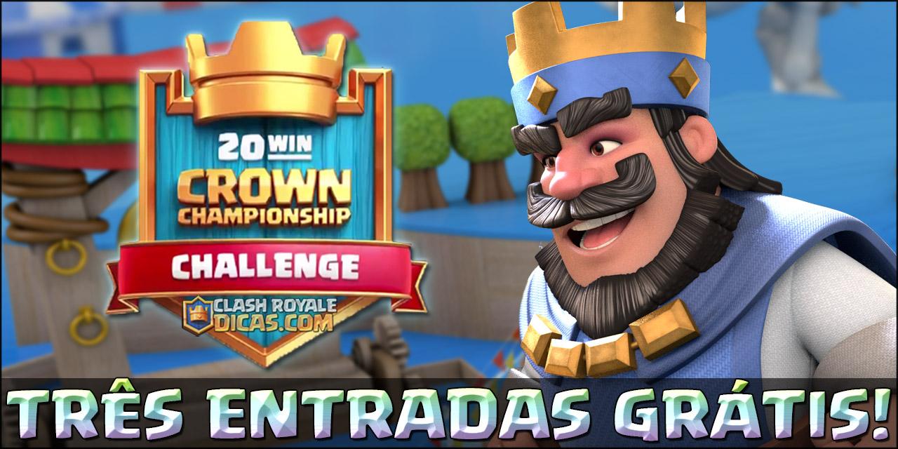 Três entradas Grátis no Desafio do Crown Championship