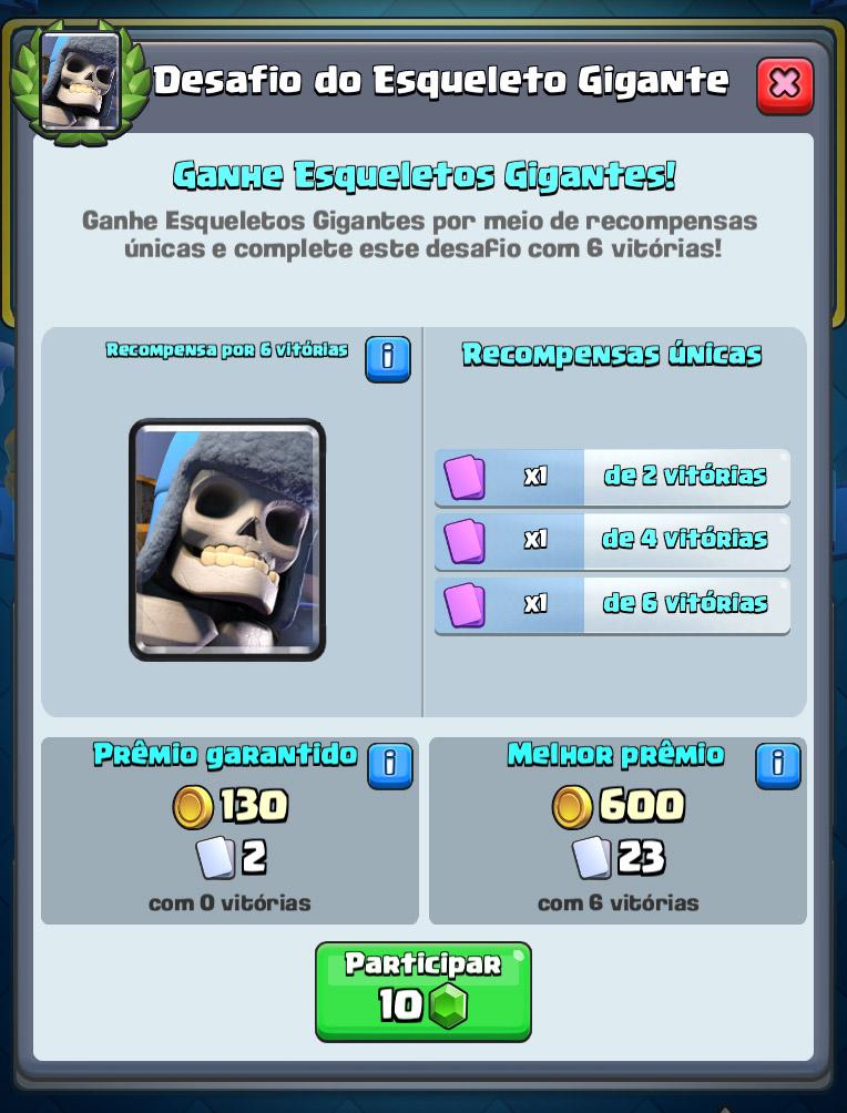 Desafio do Esqueleto Gigante