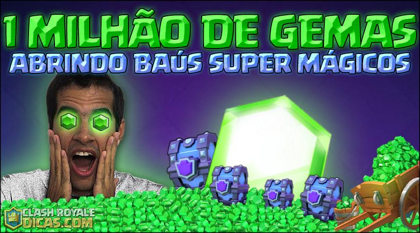 Jogador gasta 1.100.000 GEMAS abrindo Baús Super Mágicos