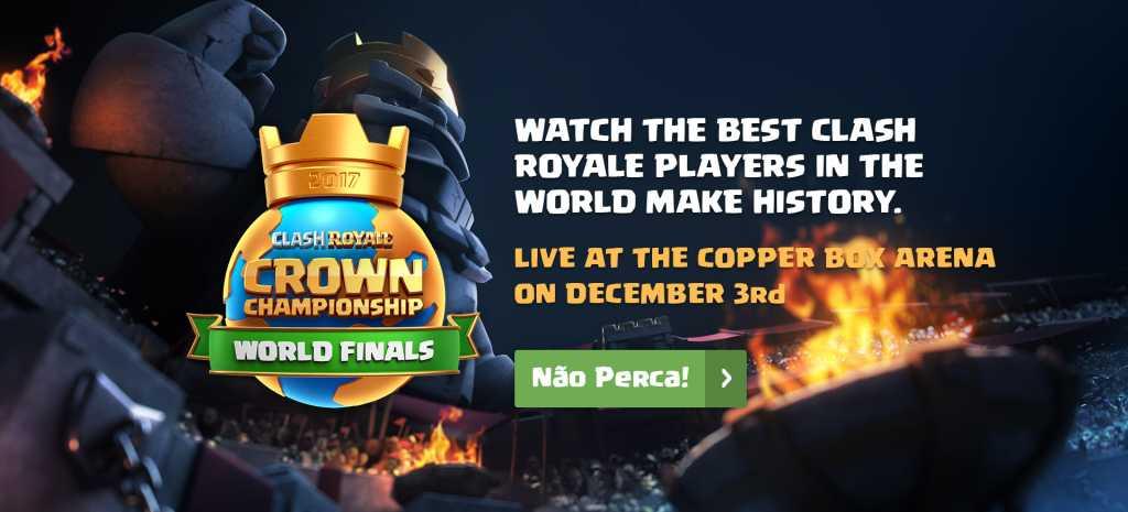Final do Torneio Mundial de Clash Royale acontecerá neste fim de semana