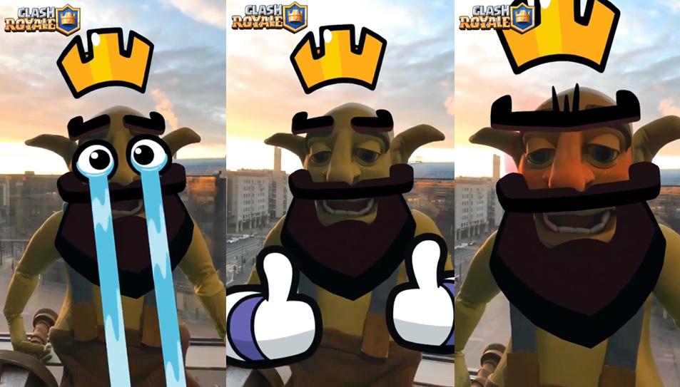 Emotes do Clash Royale na Câmera do seu celular - 1