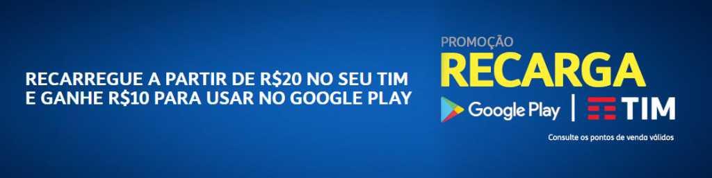 Como Ganhar Gift Card de R$ 10 no Google Play GRÁTIS (Clientes Tim) - 1