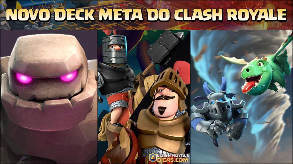 Novo Deck META do Clash Royale (Golem, Double Prince, Bebê Dragão e Tornado )