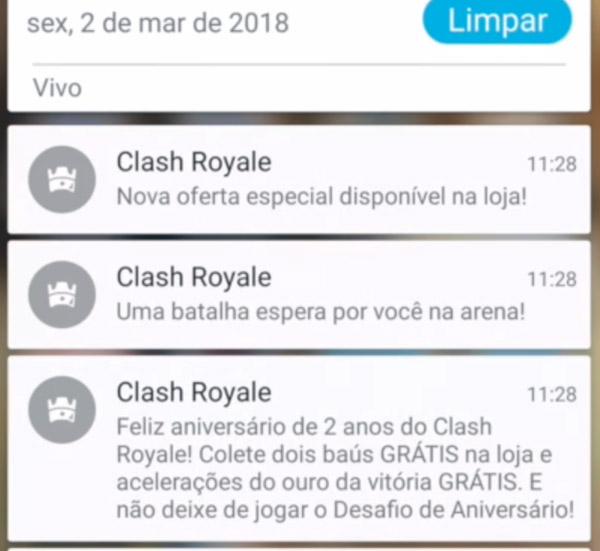 Vazamento: Baús Grátis no Aniversário de 2 anos do Clash Royale - 2