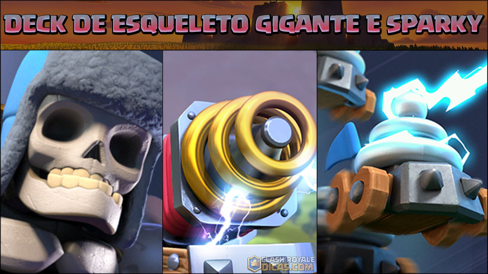 Deck de Sparky e Esqueleto Gigante para Arena 7+