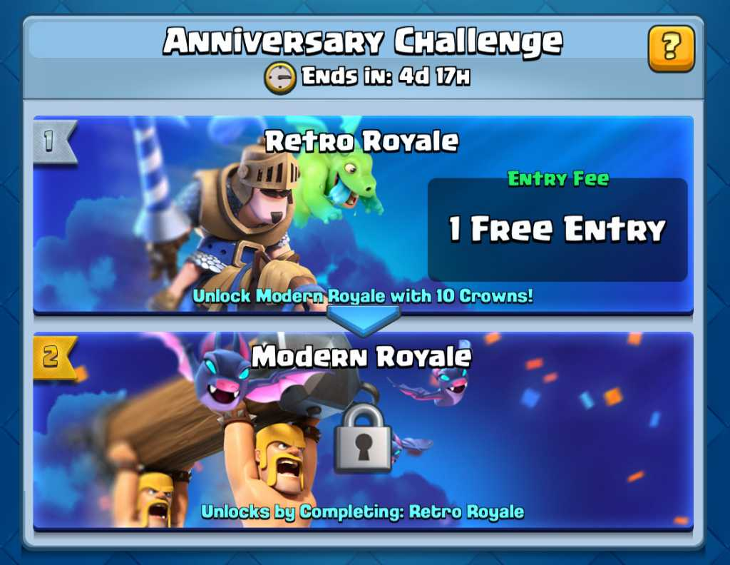 Aniversário de 2 anos do Clash Royale (Desafios, Ofertas Grátis e mais!) - 1