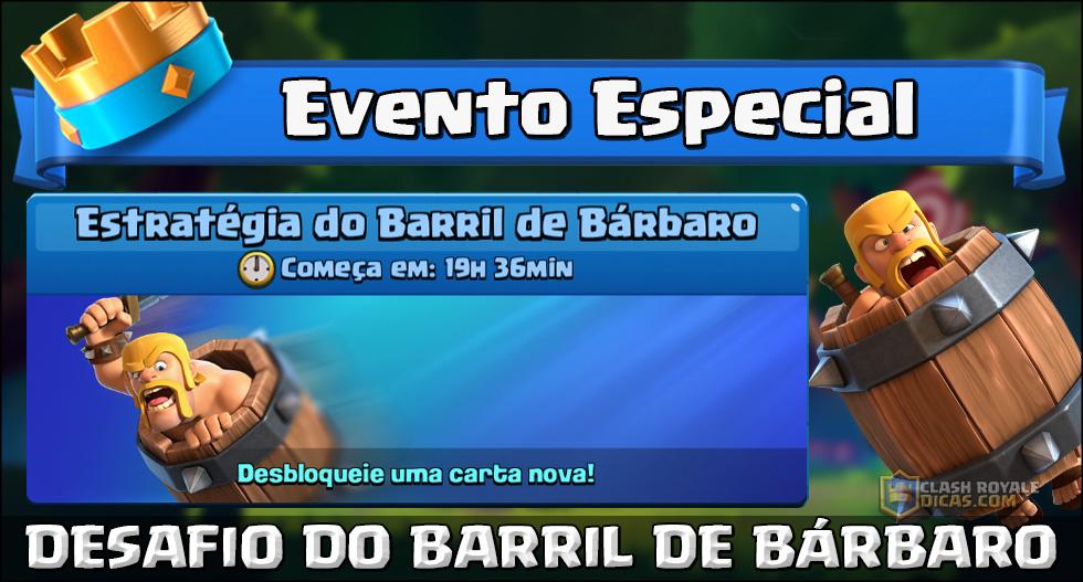 Desafio do Barril de Bárbaro começa amanhã!
