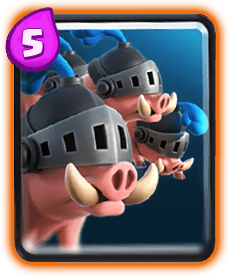 Carta dos Porcos Reais do Clash Royale