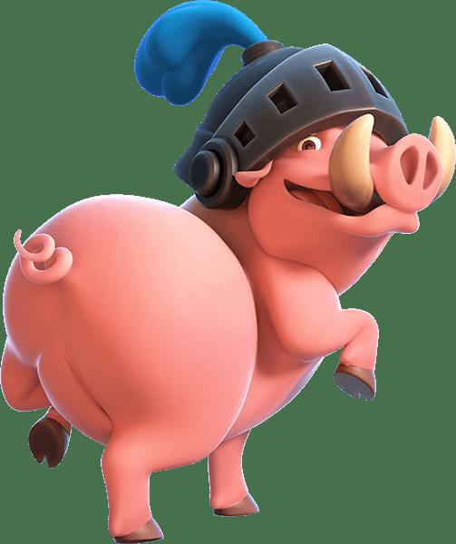 Porcos Reais do Clash Royale - Royal Hogs