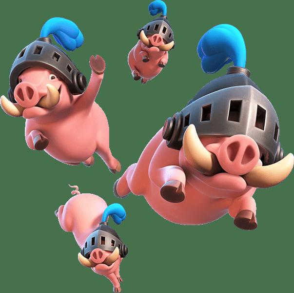 Porcos Reais - Royal Hogs Clash Royale Ilustration