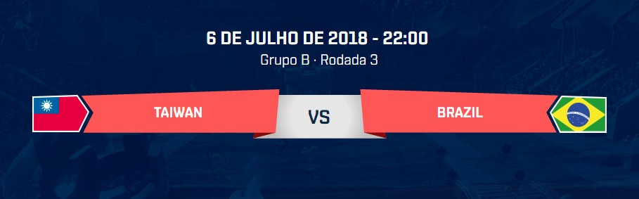 Brasil x Taiwan pela CR Nations Cup AO VIVO