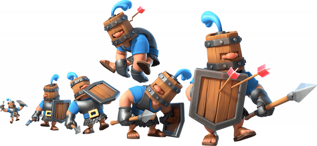 Recrutas Reais no Clash Royale - Card Royal Recruits
