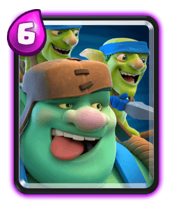 Carta do Goblin Gigante do Clash Royale