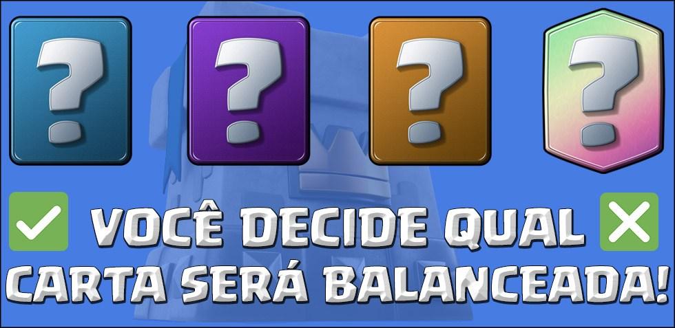 A Comunidade vai escolher uma carta do próximo Balanceamento - 1