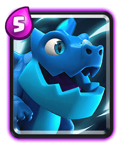 Carta do Dragão Elétrico do Clash Royale