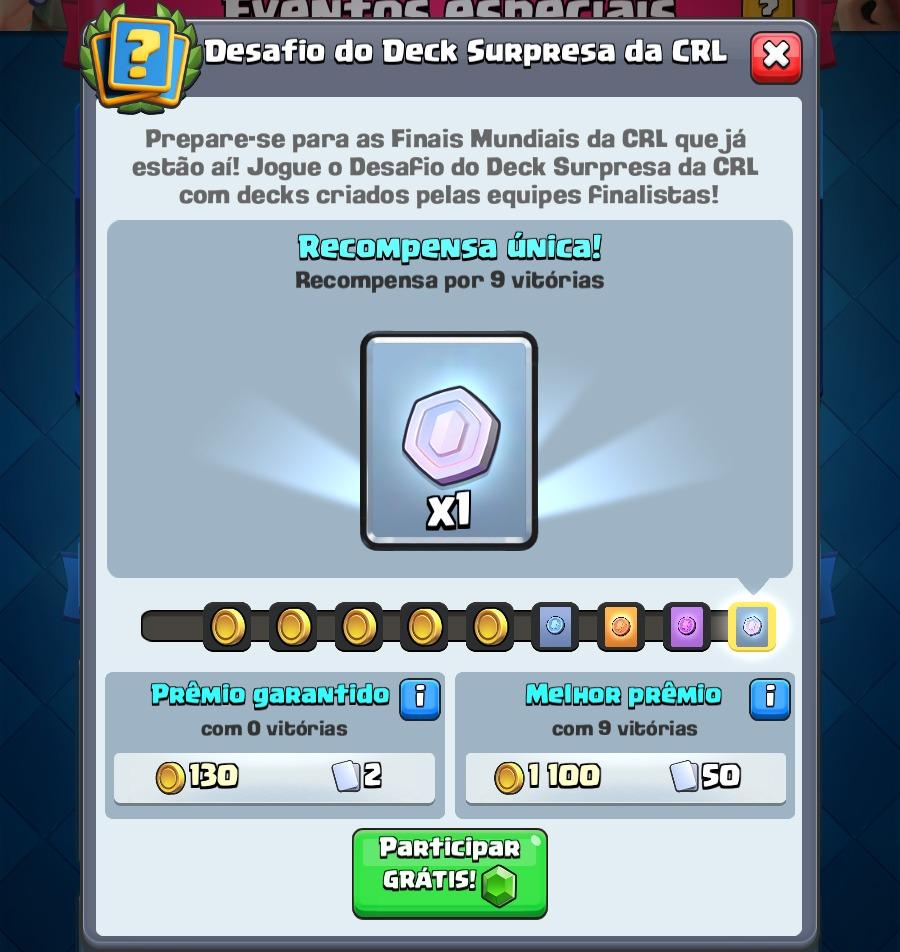 Desafio do Deck Surpresa da CRL começou! - 2
