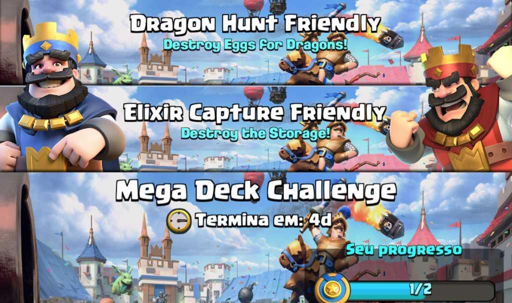 Sneak Peeks de Novos Modos de Jogo: MegaDeck, Captura de Elixir e Caça ao Dragão - 1