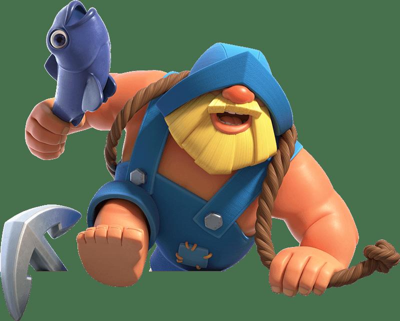 Ilustração do Pescador no Clash Royale - Render