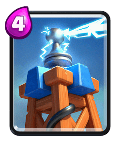 Carta da Tesla do Clash Royale