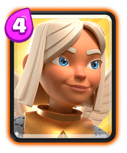 Carta da Curadora Guerreira do Clash Royale