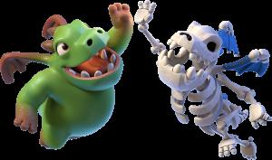 Dragão Esqueleto e Bebê Dragão