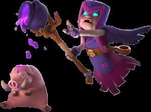 Bruxa Mãe e porco amaldiçoado (Mother Witch)