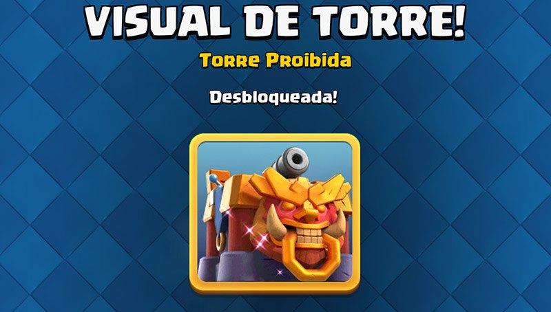Visual de Torre da 20ª Temporada do Clash Royale