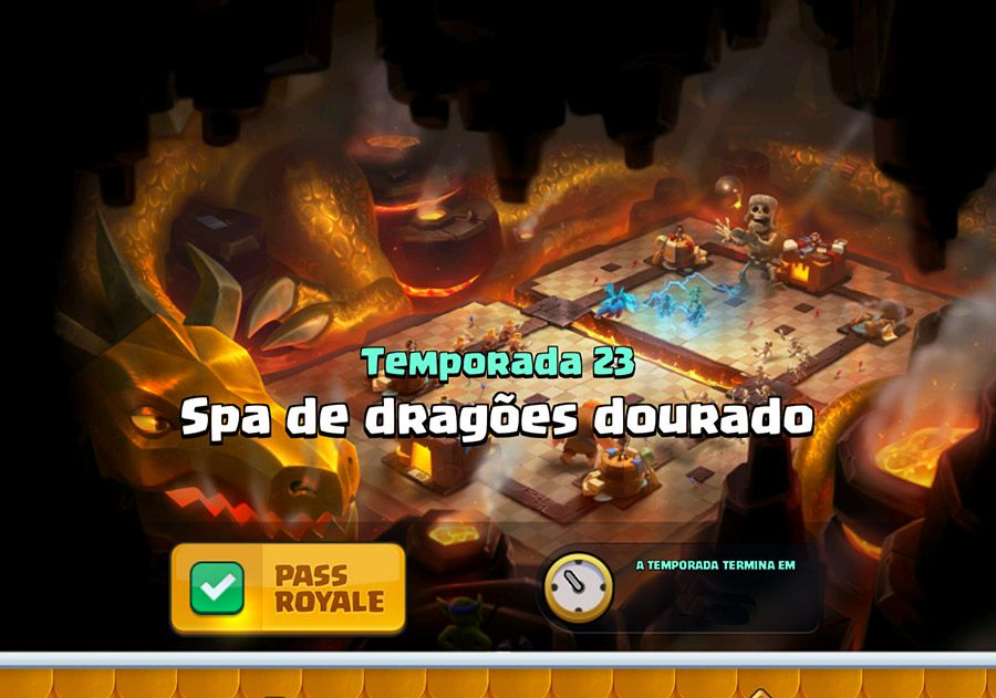 23ª Temporada do Clash Royale SPA de Dragões Dourados