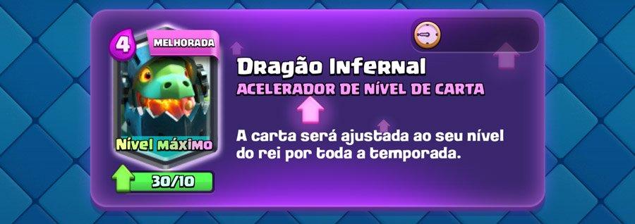 Melhoria de Carta da Temporada- Dragão Infernal