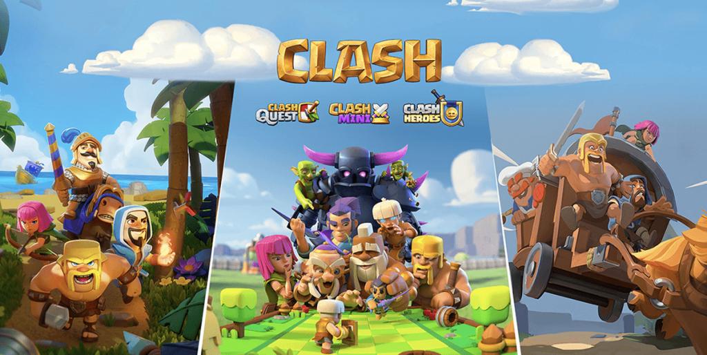Expansão do universo Clash com 3 novos jogos!