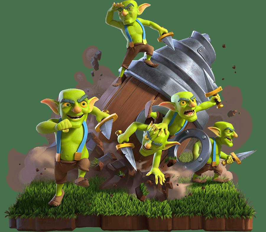Carta do Goblin com Broca no Clash Royale
